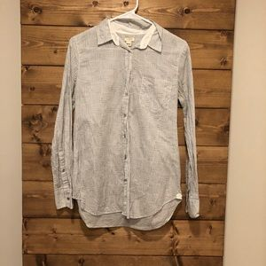 J. Crew crosshatch black and white button down